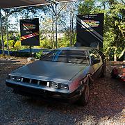 Back To The Future De Lorian In Universal Studios Theme Park, Los Angeles, California