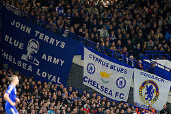 John Terry's of Chelsea Blue Army supporters during football match between Chelsea FC and NK Maribor, SLO in Group G of Group Stage of UEFA Champions League 2014/15, on October 21, 2014 in Stamford Bridge Stadium, London, Great Britain. Photo by Vid Ponikvar / Sportida.com