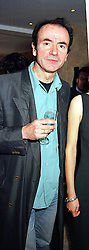 MR HUGH CORNWALL member of rock group The Stranglers,<br />  at a party in London on 11th July 2000.OGF 13 MO<br /> © Desmond O'Neill Features:- 020 8971 9600<br />    10 Victoria Mews, London.  SW18 3PY <br /> www.donfeatures.com   photos@donfeatures.com<br /> MINIMUM REPRODUCTION FEE AS AGREED.<br /> PHOTOGRAPH BY DOMINIC O'NEILL