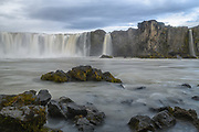 Goðafoss is in the Skjálfandafljót river in the Bárðardalur area.