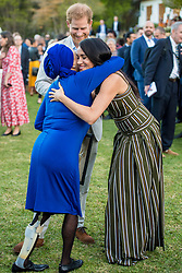 September 24, 2019, Cape Town, SOUTH AFRICA: 24-09-2019 Cape Meghan Markle and Prince Harry with Artscape chief executive Marlene le Roux during a reception for young people, community and civil society leaders at the Residence of the British High Commissioner in Cape Town, on the 2nd day of the visit to South Africa..The Commonwealth Point of Light awards recognise outstanding individual volunteers who are making a change in their community. .These awards were given for the young leaders work in helping the environment. (Credit Image: © face to face via ZUMA Press)