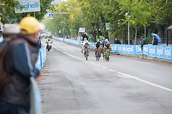 A small group forms with a little over one lap to go at Gran Premio Bruno Beghelli 2017 - a 80 km road race, in Monteveglio, Italy on October 1, 2017. (Photo by Sean Robinson/Velofocus.com)