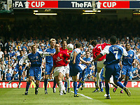 Photo: SBI/Digitalsport<br /> NORWAY ONLY<br /> <br /> Manchester United v Millwall. FA Cup Final. 22/05/2004.<br /> Christiano Ronaldo heads in the opener