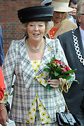 State Visit of the presidentof Chili , Michelle Bachelet to the Netherlands.<br /> <br /> On the photo:<br /> Queenj Beatrix at the Universaty in Wageningen.