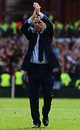 Harry Redknapp , manager of Birmingham city claps to the fans . EFL Skybet championship match, Aston Villa v Birmingham city at Villa Park in Birmingham, The Midlands on Sunday 23rd April 2017.<br /> pic by Bradley Collyer, Andrew Orchard sports photography.