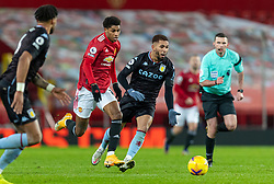 MANCHESTER, ENGLAND - Friday, January 1, 2020: Manchester United's Marcus Rashford during the New Year's Day FA Premier League match between Manchester United FC and Aston Villa FC at Old Trafford. The game was played behind closed doors due to the UK government putting Greater Manchester in Tier 4: Stay at Home during the Coronavirus COVID-19 Pandemic. (Pic by David Rawcliffe/Propaganda)