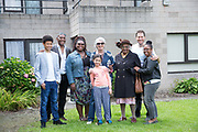 Kate Macintosh with family and residents at 269 Leigham Court Road sheltered housing celebratory event on 19th June 2016 in South London, United Kingdom. Macintosh Court Formally 269 Leigham Court Road was designed by architect Kate Macintosh, and brutalist in design. In May 2015, residents campaigned to Historic England and the building was awarded Grade II listing. In June 2016, the council announced plans to regenerate the estate, rather than rebuild.