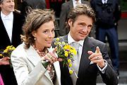 Koninginnedag 2008 / Queensday 2008. <br /> <br /> Koningin Beatrix viert Koninginnedag dit jaar in Friesland. De vorstin en haar familie bezochten op 30 april Makkum en Franeker.<br /> <br /> Queen Beatrix celebrates Queensday this year in Friesland (the Nothren provice in Holland). The Queen and its family visited Makkum and Franeker on 30 April.<br /> <br /> Op de foto/ On the Photo: Prins Maurits en Prinses Marilene / Prince Maurits en Princes Marilene