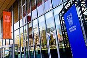 EINDHOVEN, 26-04-2021, High Tech Campus<br /> <br /> Alles klaar voor Koningsdag 2021 in Eindhoven op de High Tech Campus in Eindhoven Foto: Brunopress/Patrick van Emst