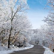 Road after snowfall