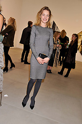 NATALIA VODIANOVA at a private view of work by Mat Collishaw - 'This is Not an Exit' held at Blaine/Southern, 4 Hanover Square, London on 13th February 2013.