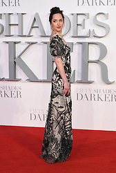 Dakota Johnson arriving for the Fifty Shades Darker European Premiere held at Odeon Leicester Square, London. Picture date: Thursday February 9, 2016. Photo credit should read: Doug Peters/ EMPICS Entertainment