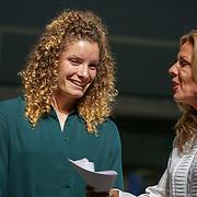NLD/Utrecht/20180923 - Premiere Mamma Mia, Dominique Janssen-Bloodworth in gesprek met Leontien van Moorsel