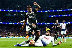 Danny Rose of Tottenham Hotspur tackles David Neres of Ajax - Mandatory by-line: Robbie Stephenson/JMP - 30/04/2019 - FOOTBALL - Tottenham Hotspur Stadium - London, England - Tottenham Hotspur v Ajax - UEFA Champions League Semi-Final 1st Leg