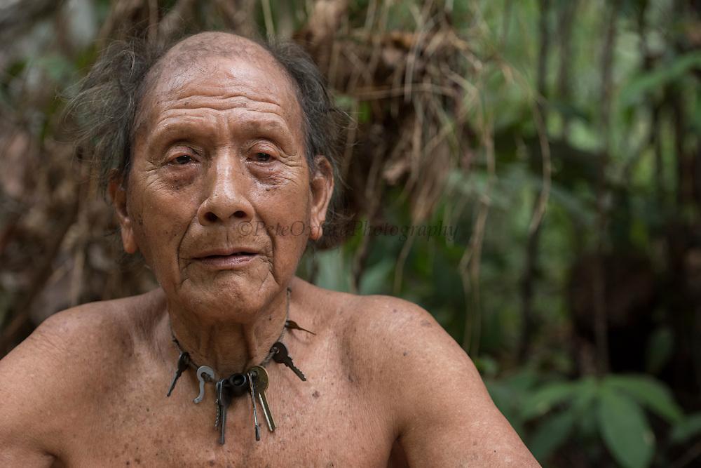 Po Tum village consellor<br /> Wai Wai territory, region 9<br /> Gunns<br /> Konashen<br /> GUYANA<br /> South America<br /> Key necklace