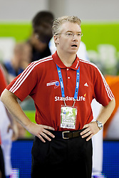 Joe Prunty, head coach of Great Britain during basketball match between National teams of France and Great Britain at Day 2 of Eurobasket 2013 on September 5, 2013 in Tivoli Hall, Ljubljana, Slovenia. (Photo By Urban Urbanc / Sportida )