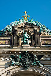View of Berlin Cathedral, Berliner Dom, on Lustgarten on Museum Island (Museumsinsel) in Mitte, Berlin, Germany