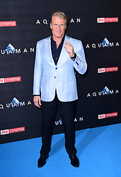 Dolph Lundgren attending the Aquaman premiere held at Cineworld in Leicester Square, London. PRESS ASSOCIATION PHOTO. Picture date: Monday November 26, 2018. Photo credit should read: Ian West/PA Wire