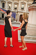 Saffron aldridge and Elle Macpherson, Summer Exhibition preview party. Royal Academy. Piccadilly. London. 7 June 2006. ONE TIME USE ONLY - DO NOT ARCHIVE  © Copyright Photograph by Dafydd Jones 66 Stockwell Park Rd. London SW9 0DA Tel 020 7733 0108 www.dafjones.com