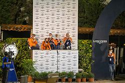 Team Netherlands, Van der Vleuten Eric, Greve Willem, Van der Vleuten Maikel, Wagemakers Ad, Ehrens Rob<br /> Longines FEI Jumping Nations Cup Final<br /> Barcelona 2021<br /> © Hippo Foto - Dirk Caremans<br />  01/10/2021