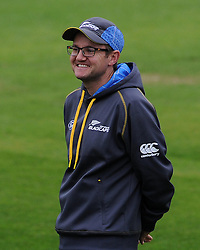 New Zealand's Head Coach Mike Hesson. Photo mandatory by-line: Harry Trump/JMP - Mobile: 07966 386802 - 11/05/15 - SPORT - CRICKET - Somerset v New Zealand - Day 4 - The County Ground, Taunton, England.