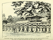 """Zojoji-zozo Temple San'en-zan Zojo-ji is a Jodo-shu Buddhist temple in Tokyo, Japan. It is the main temple of the Jodo-shu (""""Pure Land"""") Chinzei sect of Buddhism in the Kanto region. from the book ' Rambles in Japan : the land of the rising sun ' by Tristram, H. B. (Henry Baker), 1822-1906. Publication date 1895. Publisher New York : Revell"""