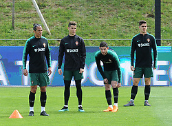 March 20, 2018 - Na - Oeiras, 03/20/2018 - The National Team AA trained this morning with a view to preparing for the 2018 World Cup in the City of Soccer in Oeiras. Bruno Alves, Cristiano Ronaldo, Gonçalo Guedes, André Silva  (Credit Image: © Atlantico Press via ZUMA Wire)
