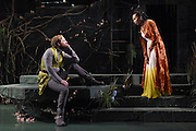 "Mara Lavitt -- Special to the Hartford Courant<br /> March 24, 2016<br /> The run-through of William Shakespeare's ""Cymbeline,"" at the University Theatre at Yale. Christopher Geary as Cloten and Sheria Irving as Imogen."