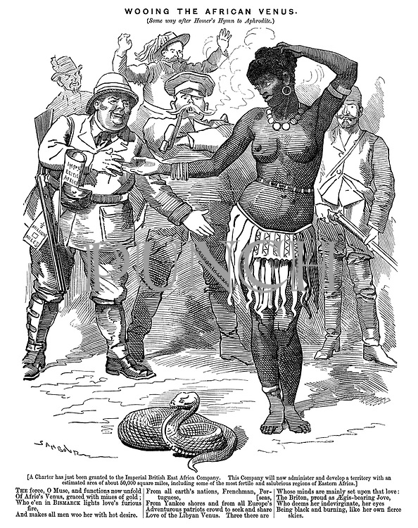 Wooing the African Venus. (Some way after Homer's hymn to Aphrodite.)