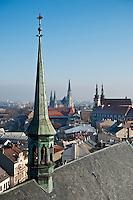 Rooftop view from St. Maurice chuch, Olomouc, Czech Republic