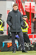 Rangers Manager Steven Gerrard during the Ladbrokes Scottish Premiership match between Hamilton Academical FC and Rangers at The Hope CBD Stadium, Hamilton, Scotland on 24 February 2019.