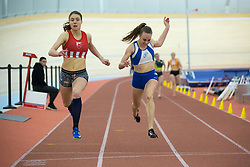 Katarina Ilić from Serbia and Maja Pogorevc competes during day 2 of Slovenian Athletics Indoor Championships 2020, on February 23, 2020 in Novo mesto, Slovenia. Photo by Peter Kastelic / Sportida