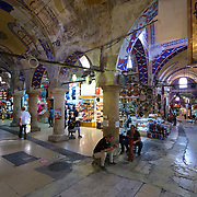 Passages of the old Grand Bazaar in Istanbul, Turkey