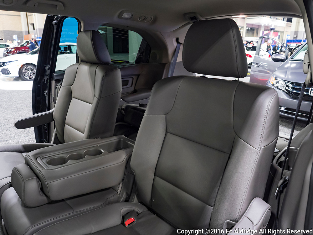 CHARLOTTE, NC, USA - NOVEMBER 17, 2016: Honda Odyssey on display during the 2016 Charlotte International Auto Show at the Charlotte Convention Center in downtown Charlotte.