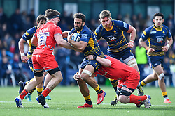 Marco Mama of Worcester Warriors in action - Mandatory by-line: Craig Thomas/JMP - 13/04/2019 - RUGBY - Sixways Stadium - Worcester, England - Worcester Warriors v Sale Sharks - Gallagher Premiership Rugby