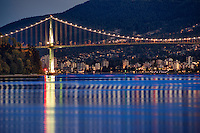 Lions Gate Bridge, Early Morning, Vancouver