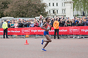Brigid Kosgei of Kenya during the elite womens race on The Mall during the The Virgin London Marathon on 28th April 2019 in London in the United Kingdom. Now in it's 39th year The London Marathon is a large sporting event with over 40,000 runners expected to take part.