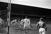 09/06/1963<br /> 06/09/1963<br /> 09 June 1963<br /> Kildare v Louth, Leinster Football quarter final at Croke park, Dublin. A brilliant save by Kildare goalie D. Marron sends the ball over the bar to save a goal.