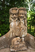 Statue at the Sacred Monkey Forest Sanctuary, Ubud, Bali, Indonesia