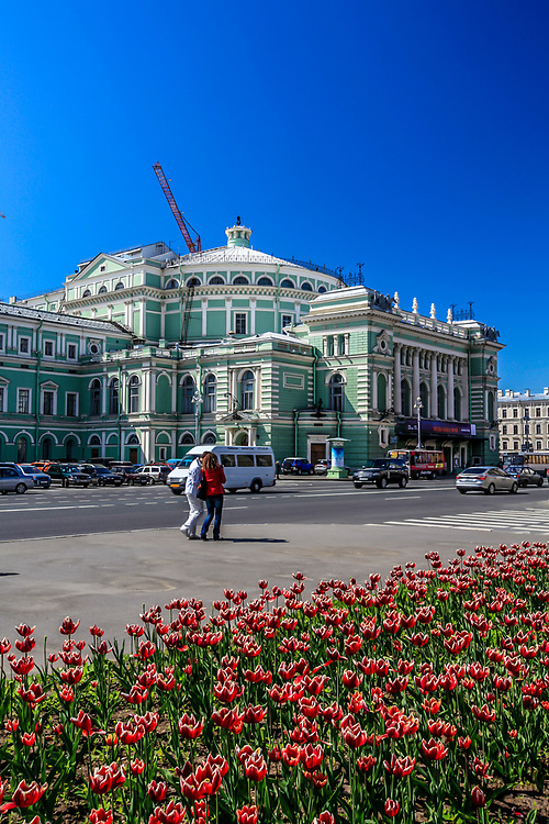 The Mariinsky Theatre is a historic theatre of opera and ballet in Saint Petersburg, Russia. Opened in 1860, it became the preeminent music theatre of late 19th century Russia, where many of the stage masterpieces of Tchaikovsky, Mussorgsky, and Rimsky-Korsakov received their premieres.