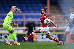 Chloe Logarzo of Bristol City Women narrowly misses the ball - Mandatory by-line: Ryan Hiscott/JMP - 18/10/2020 - FOOTBALL - Twerton Park - Bath, England - Bristol City Women v Birmingham City Women - Barclays FA Women's Super League