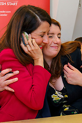 © Licensed to London News Pictures. 07/09/2015. London, UK. Labour Party leader candidate Liz Kendall and her supporter Alison McGovern MP calling Labour Party members to make sure they vote before the Thursday lunchtime deadline as the Labour leadership election enters the final 72 hours. Photo credit: Tolga Akmen/LNP
