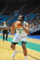 September 15, 2017 - Tunis, Tunisia - Nigerian Ike Diogu won the MVP title of the tournament, compiling 22 points and 8.7 rebounds of average, with 57% of success with the shot of which 45% by far. (Credit Image: © Chokri Mahjoub via ZUMA Wire)