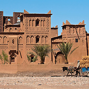Amerhidil Kasbah in the oasis town of Skoura, Morocco