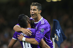 3rd June 2017 - UEFA Champions League Final - Juventus v Real Madrid - Cristiano Ronaldo of Real celebrates after scoring their 1st goal - Photo: Simon Stacpoole / Offside.