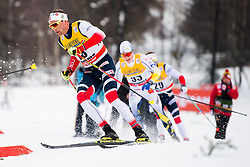 January 6, 2018 - Val Di Fiemme, ITALY - 180106 Niklas Dyrhaug of Norway competes in men's 15km mass start classic technique during Tour de Ski on January 6, 2018 in Val di Fiemme..Photo: Jon Olav Nesvold / BILDBYRN / kod JE / 160123 (Credit Image: © Jon Olav Nesvold/Bildbyran via ZUMA Wire)