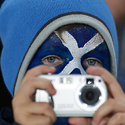 A Scottish fan during the England V Scotland Pool B match during the IRB Rugby World Cup tournament. Eden Park, Auckland, New Zealand, 1st October 2011. Photo Tim Clayton...