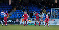 Photo: Leigh Quinnell.<br /> Hartlepool United v Swindon Town. Coca Cola League 1.<br /> 02/01/2006. Hartlepools Gavin Strachan fires in a free kick to score.