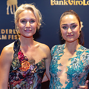 NLD/Utrecht/20181001 - NFF 2018, Première Rafaël, Kimberly Klaver en zus Melody Klaver