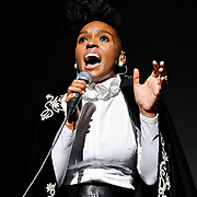 Up and coming R&B artist Janelle Monae performs at DAR Constitution Hall in Washington, D.C.